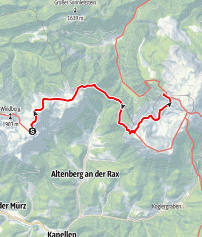 Map / Schneealpe über den Nasskamm zum Habsburghaus