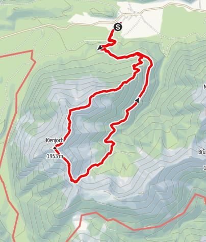 Karte / Kieneckspitz-Kienjoch Überschreitung