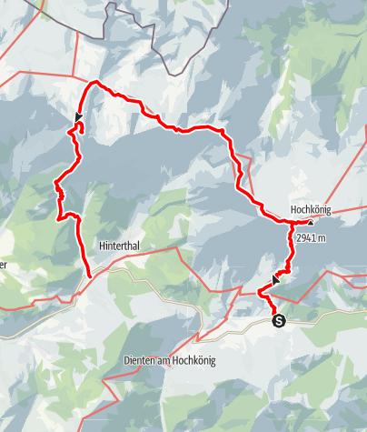 Karte / Hochkönig Überschreitung