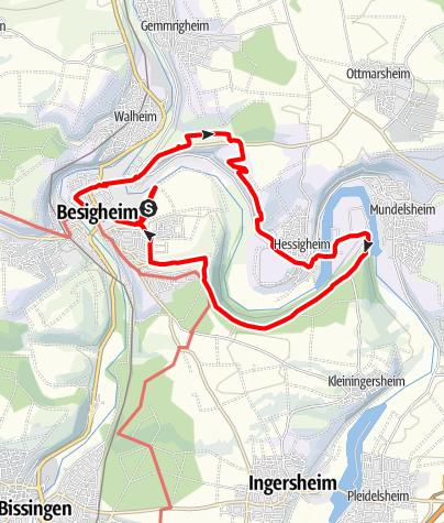 Karte / Durch die Felsengärten von Hessigheim