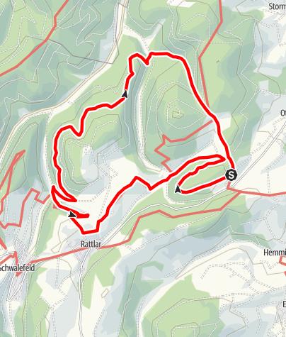 Karte / Panorama-tour um den Dommel