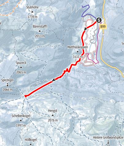 Karte / Südwiener Hütte, Obertauern