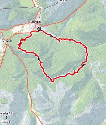 Karte / Durch die Gleirschklamm zum Zäunlkopf im Karwendelgebirge