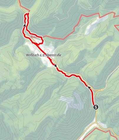 Karte / Weißbachschlucht