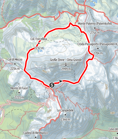 Map / Drei Zinnen (Tre Cime di Lavaredo)