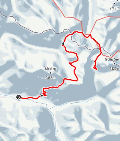 Karte / Tübinger Hütte von Klosters aus