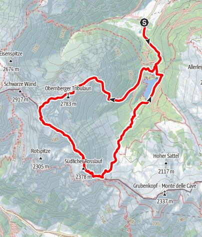 Karte / Obernberger Tribulaun