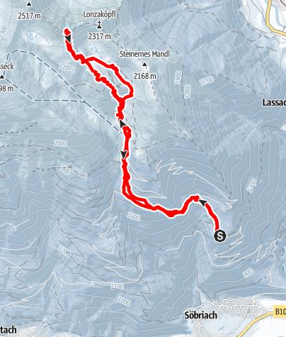 Karte / Lonzaköpfl II vom Gasthof Himmelbauer