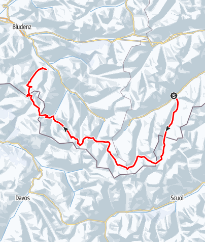 Karte / von Ischgl nach Tschagguns