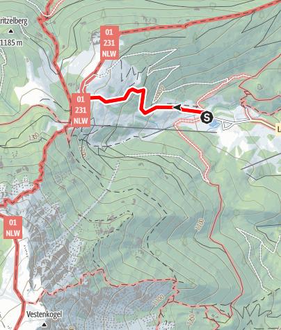 Karte / Kurzwanderung Losenheim - Edelweißhütte