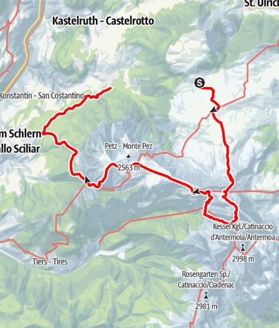 Karte / Giro sul Catinaccio 3gg