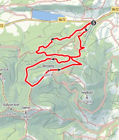Karte / Auf den Blomberg und zurück