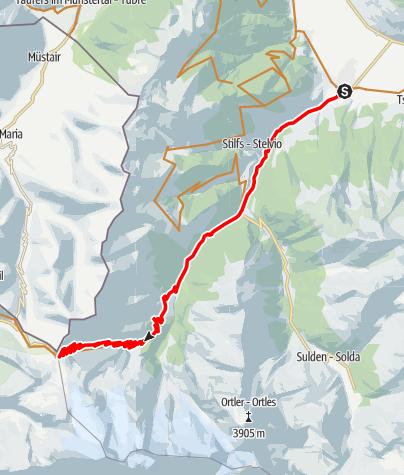 Karte / Prad -Stilfserjoch