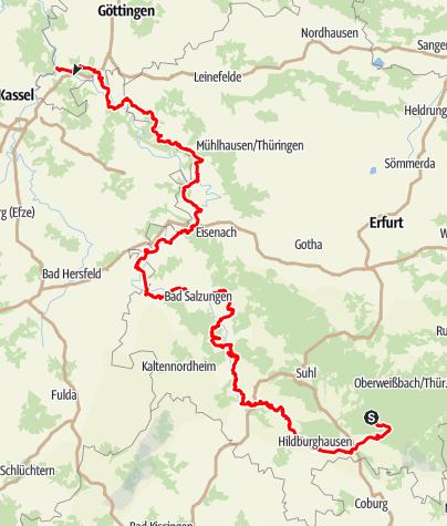 Karte / Werra-Burgen-Steig X5