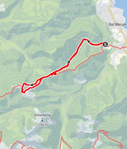 Karte / Von Bad Wiessee zum Fockenstein