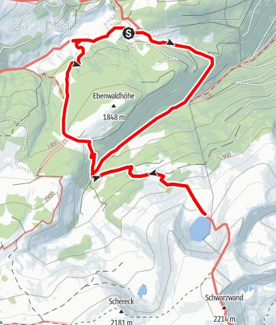 Karte / Laußnitzsee mit Almbesuch