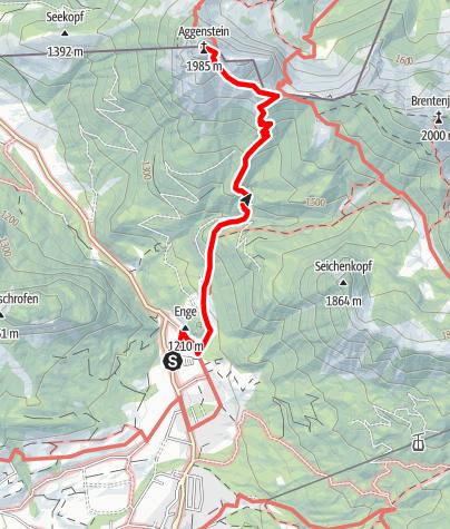 Mappa / Aggenstein im Tannheimer Tal