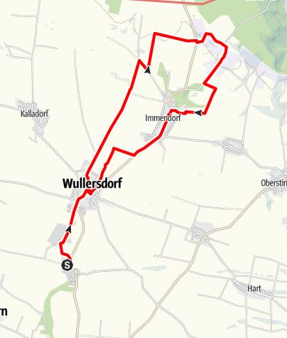 Mappa / Wullersdorf Geschichtenrundweg