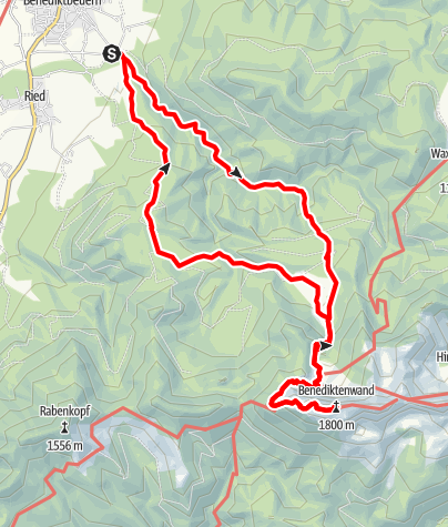 Karte / Benediktenwand / 20.11.2011
