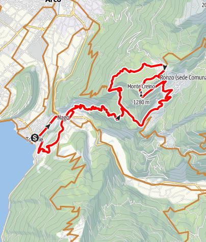 Karte / Monte Creino