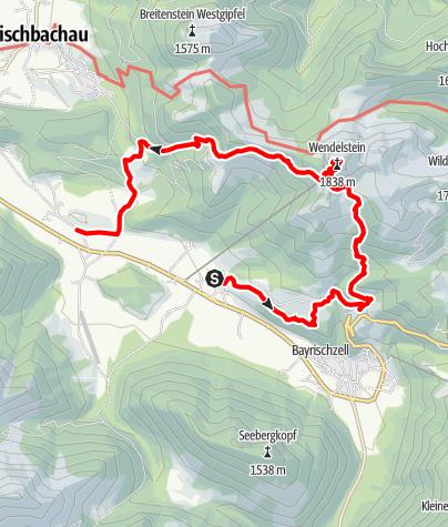 Karte / Wendelstein mit dem BOB
