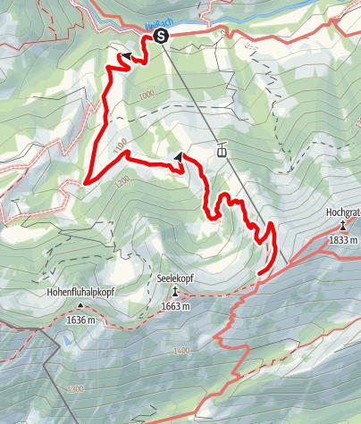 Map / Staufner Haus, von der Talstation Hochgratbahn