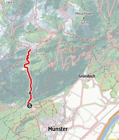 Karte / Bayreuther Hütte, Achensee
