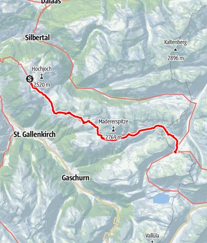 Karte / Der Wormser-Höhenweg