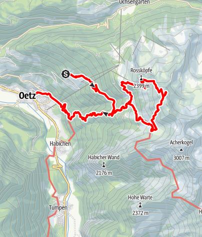 Karte / Der Wetterkreuzkogel