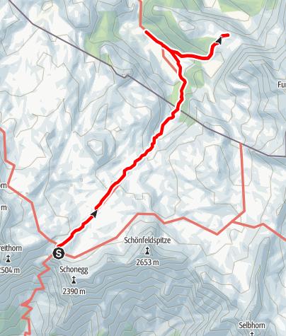 Karte / Vom Riemann zum Kärlingerhaus mit Feldkogel (Steinerne-Meer/Watzmann4)