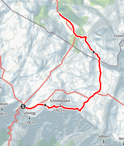 Karte / Vom Riemann zum Kärlingerhaus.(Über die Schönfeldspitze Steinerne-Meer/Watzmann5)