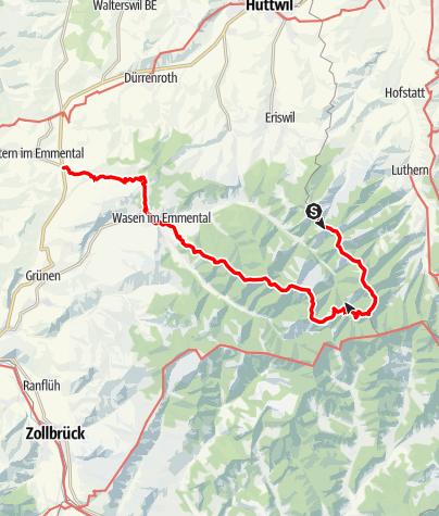 Map / Ahorn - Luushütte - Hinter Arni - Wasen - Weier i.E