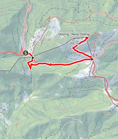 Karte / Hike & Fly auf den Oisternig (2.052m)