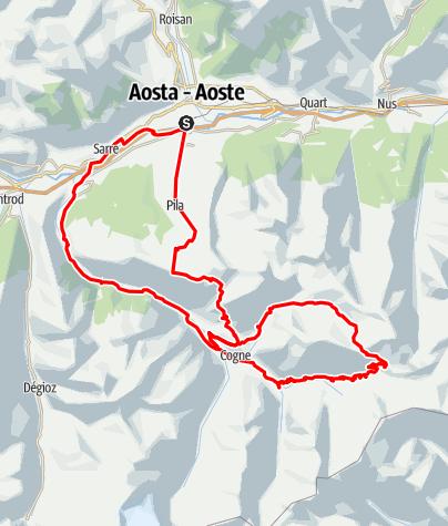 Karte / KtI Aosta | Passo Invergneux | Aosta