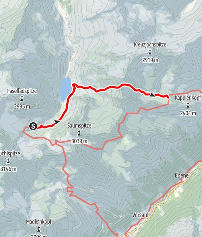Karte / Über das Seßladjoch