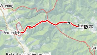 Karte / Graz - Millstatt Etappe 3: Hirschegg - Reichenfels
