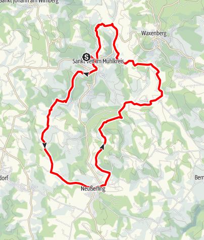 Karte / Neußerling Bikerunde