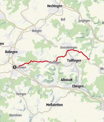 Karte / Von Balingen bis Neuweiler