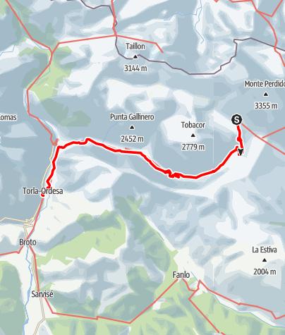 Karte / Pyrenäen-Rundtour, Etappe 5: Vom Refugio de Góriz nach Torla