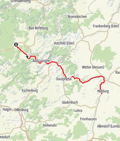 Karte / Lahntalradweg - Etappe 1