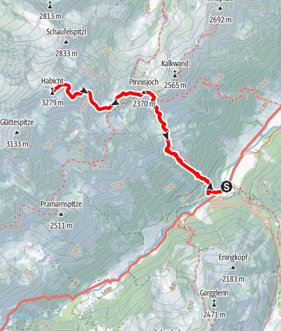 Map / Habicht - Gschnitz