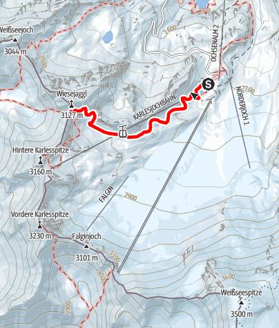 Karte / Wiesejaggel von Bergrestaurant Weißseeferner aus