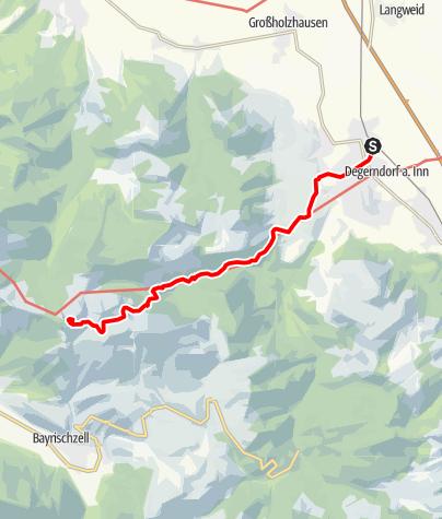 Karte / Von Brannenburg auf den Wendelstein