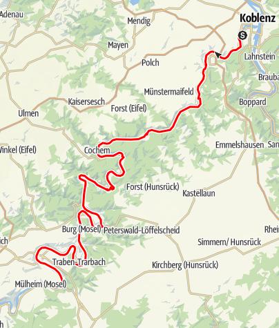 Karte / Obere Mosel Tour