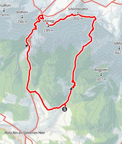Karte / Schönfeldspitze