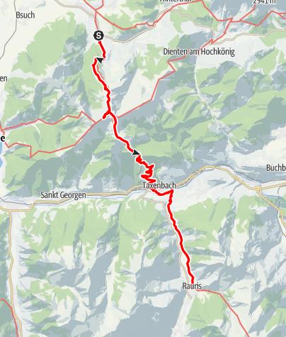 Karte / E10 I Tag 3 Maria Alm - Taxenbach
