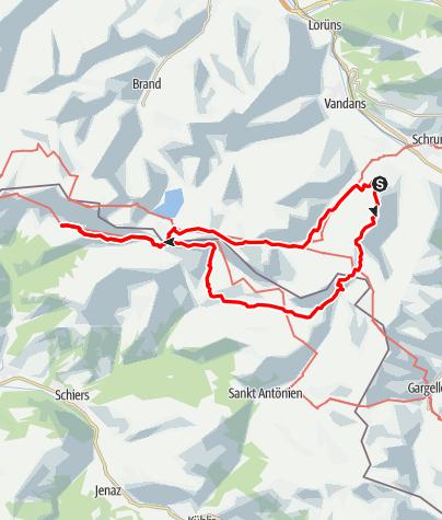 Karte / Tschagguns-Schesaplana 3-days roundtrip