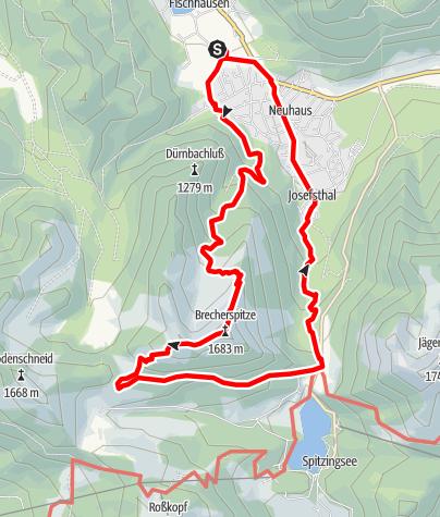 Karte / Mit der BOB: Rundwanderung Brecherspitze