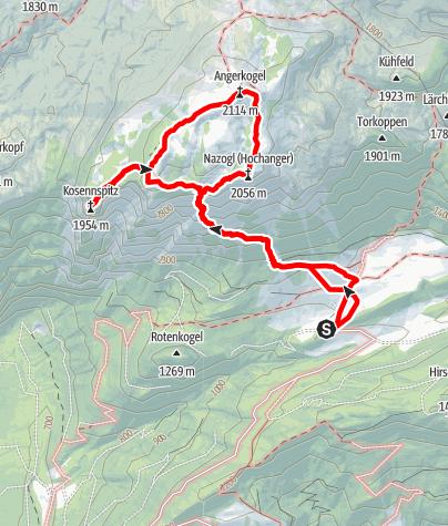 Karte / Nazogl 2057 m, Gipfelquartett im Toten Gebirge