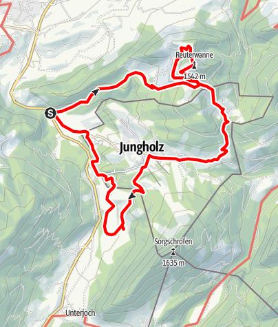 Karte / Jungholz-Hüttentour